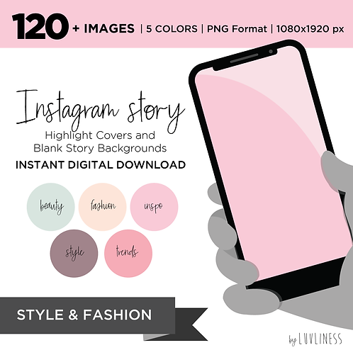 INSTAGRAM Story Highlight, Style Pack, Instant Download, Icecream Theme