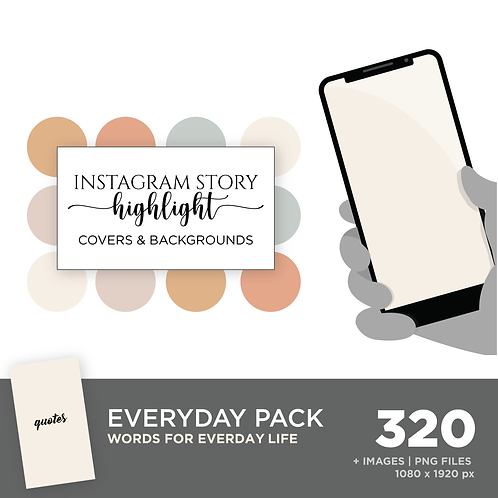 INSTAGRAM Story Highlight, Everyday Pack, Instant Download, Desert Sky Theme