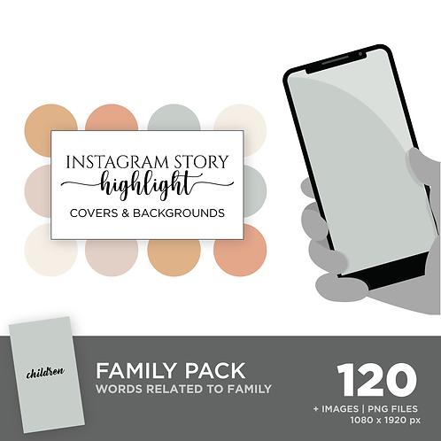 INSTAGRAM Story Highlight, Family Pack, Instant Download, Desert Sky Theme