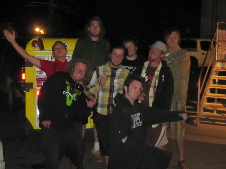 My band Oatie Paste with our friends The Braskies on the Boats and Hoes Tour, June 2009. This pic is from load out after a show in Prescott, Arizona.