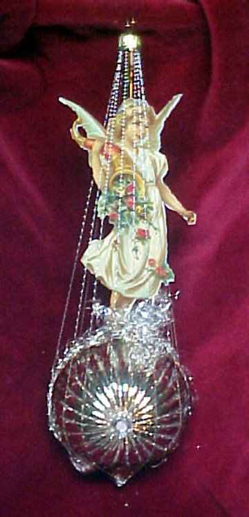 #1395-010 - Wire Wrapped Angel on Sunburst, Gold