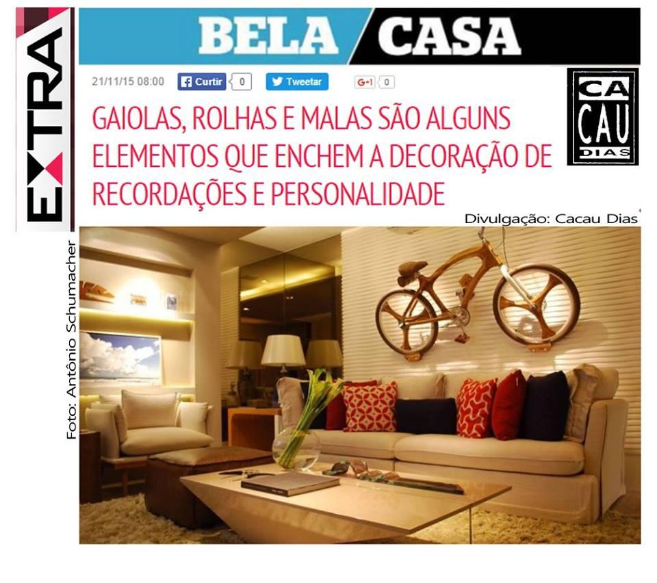 Caderno Bela Casa Jornal Extra