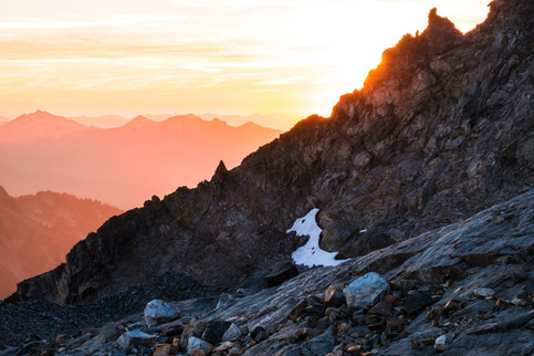 Sahale Mountain sunset, North Cascades National Park.