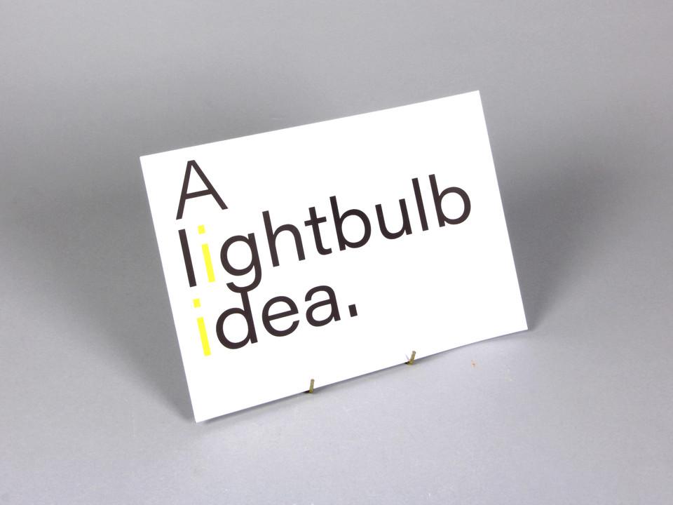 A lightbulb idea