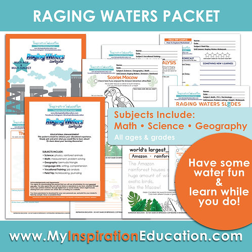 Raging Waters Educational Packet (All In One)