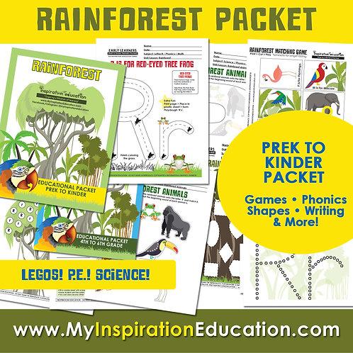 Rainforest Thematic Field Trip Packet (PreK to K)