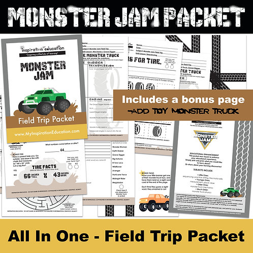 Monster Jam Field Trip Packet (All In One)
