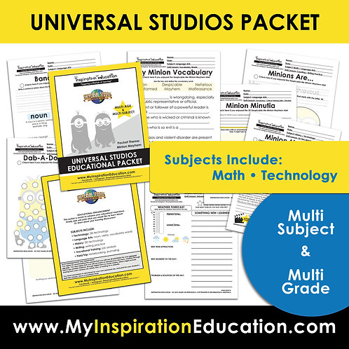 Minion Educational Packet (All In One)