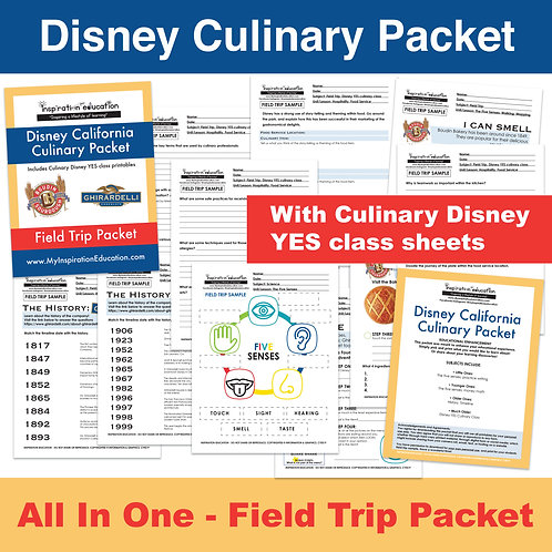 Disney Culinary Packet (All In One)