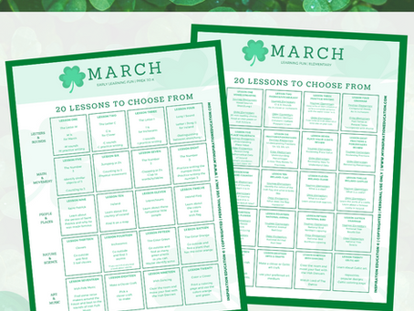 Free March Learning Calendar