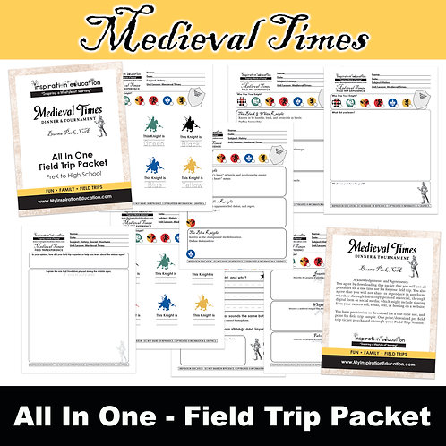 Medieval Times Educational Packet (All In One)