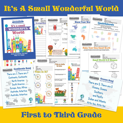 It's A Small World Educational Packet (1st to 3rd Grade)