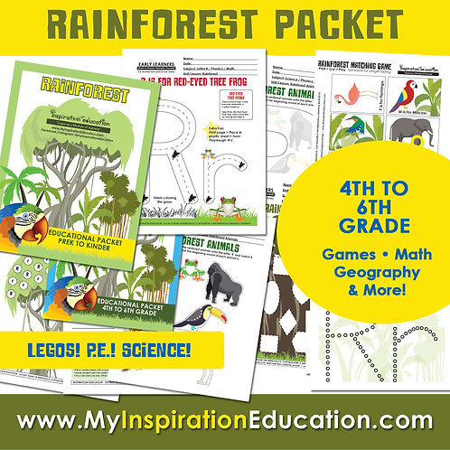 Rainforest Thematic Field Trip Packet (4th to 6th)
