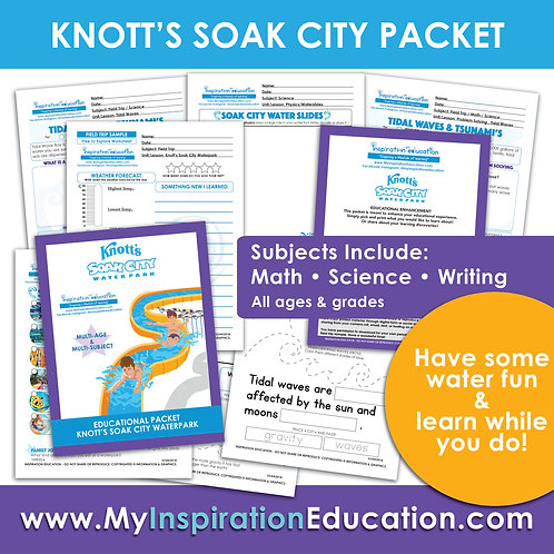 All In One Knott's Soak City Educational Packet