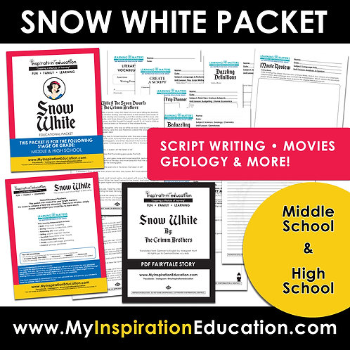 Snow White Thematic Packet (middle to high)