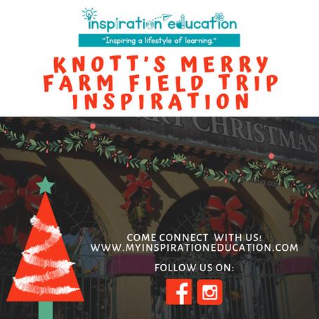 Knott's Merry Farm Field Trip Inspiration