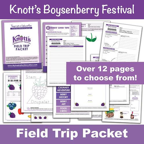 Knott's Boysenberry Festival Packet