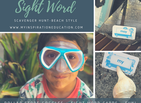 Sight Word Diving & Beach Style Learning