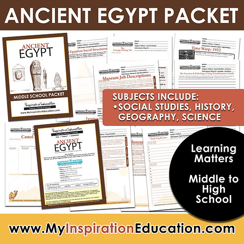 Ancient Egypt Full Thematic Packet (Middle/High School)