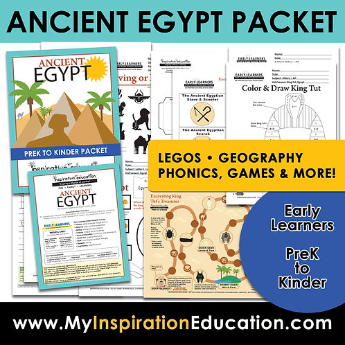 Ancient Egypt Full Thematic Packet (PreK to Kinder)