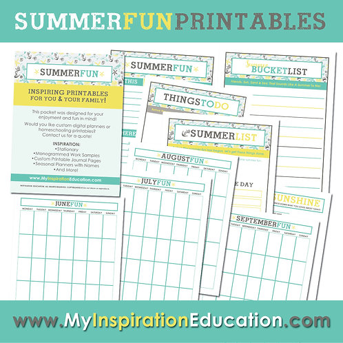 Summer Fun Printable Packet