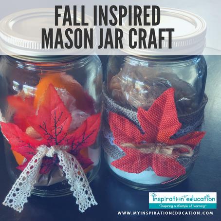 Fall Mason Jar Craft (Dollar Tree)
