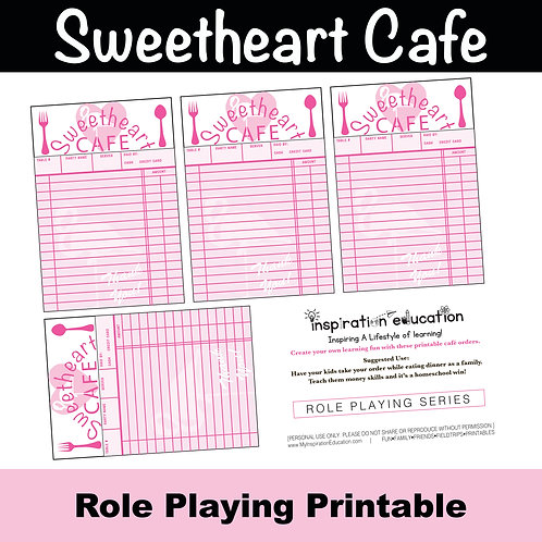 Sweetheart Cafe Role Play Sheet