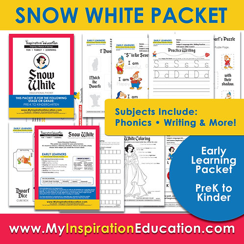 Snow White Thematic Packet (PreK to Kinder)