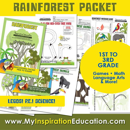 Rainforest Thematic Field Trip Packet (1st to 3rd)