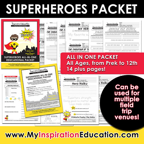 Superheroes Educational Packet (All In One)