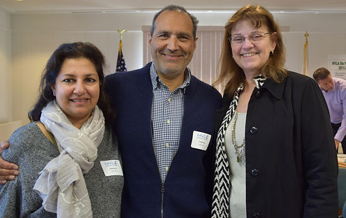 Principal Wynne Satterwhite with LAHS Leadership Circle Parents