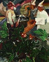무화과 숲, watercolor on canvas, 116.8x91cm, 2015