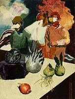서툰 관찰자들, watercolor on canvas, 80.3 x 60.6 cm, 2015