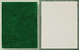 초록색과 흰색, watercolor on canvas, (각) 35 x 27.3 cm, 2017