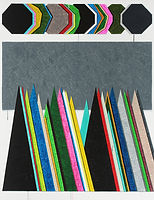 회색 걸음, 2018, watercolor on canvas, 145.5x112cm