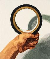 검은색 원, watercolor on canvas, 53 x 45.5 cm, 2016