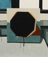다각형 그림, watercolor on canvas, 45.5 x 38 cm, 2016