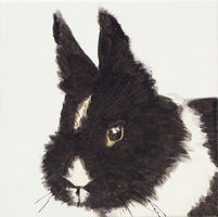 토끼, watercolor on canvas, 20 x 20 cm, 2016