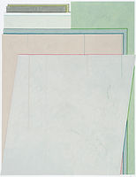 하얀 거짓말들, watercolor on canvas, 145.5x112cm, 2018