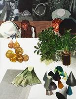 이름 없는 사물들, watercolor on canvas, 194 x 150cm, 2016