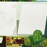 기록하는 숲, watercolor on canvas, 100x100cm, 2018