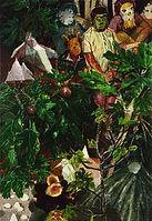 무화과 숲, watercolor on canvas, 116.8x80.3cm, 2015
