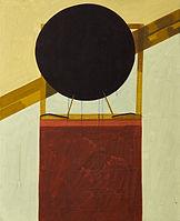 두 개의 기록, watercolor on canvas, 65x53 cm, 2016