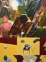 빛나는 산과 소년, watercolor on canvas,130.3 x 97 cm, 2016
