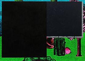 검은색, 2018, watercolor on canvas, 65x91cm