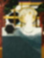 두 번의 교차점, watercolor on canvas, 80.3 x 60.5 cm, 2016