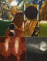 다각형과 산, watercolor on canvas, 117 x 91 cm, 2016