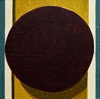 두 개의 기록-짙은 보라색 원, watercolor on canvas, 40x40cm, 2016