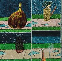 순서 없는 이유들, 2018, watercolor on canvas, 45.5x45.5cm