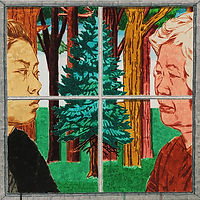 우연히 떠오른 숲에서, 2018, watercolor on canvas, 45.5x45.5cm